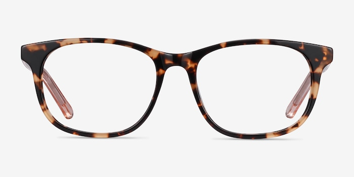 Steps Tortoise Acetate Eyeglass Frames from EyeBuyDirect, Front View