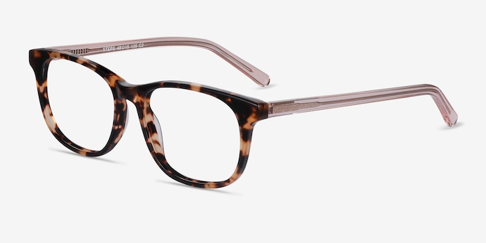 Steps Tortoise Acetate Eyeglass Frames from EyeBuyDirect, Angle View