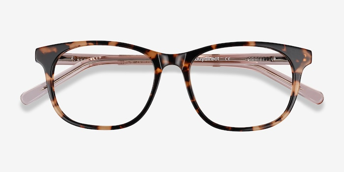 Steps Tortoise Acetate Eyeglass Frames from EyeBuyDirect, Closed View