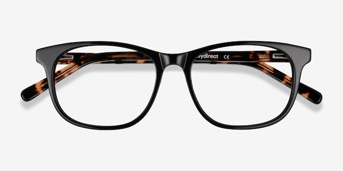 Steps Black Acetate Eyeglass Frames from EyeBuyDirect, Closed View