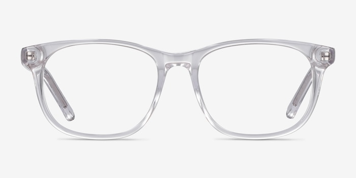 Steps Clear Acetate Eyeglass Frames from EyeBuyDirect, Front View