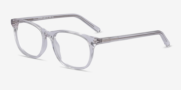 Steps Clear Acetate Eyeglass Frames from EyeBuyDirect, Angle View