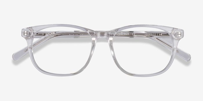 Steps Clear Acetate Eyeglass Frames from EyeBuyDirect, Closed View