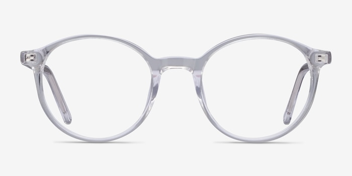 Excel Clear Acetate Eyeglass Frames from EyeBuyDirect, Front View