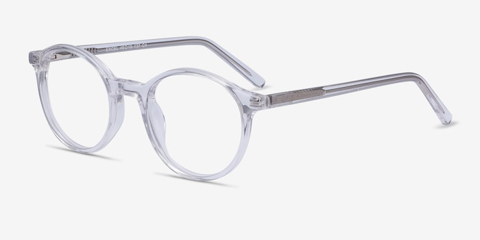 Excel Clear Acetate Eyeglass Frames from EyeBuyDirect, Angle View
