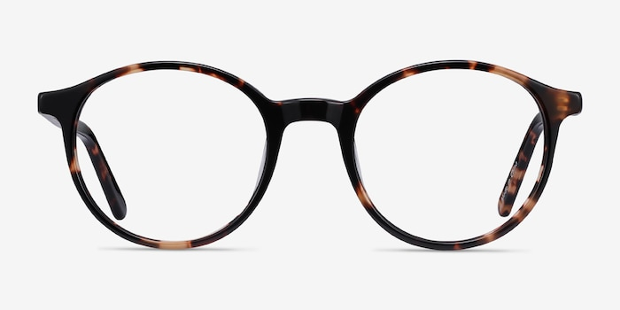 Excel Tortoise Acetate Eyeglass Frames from EyeBuyDirect, Front View