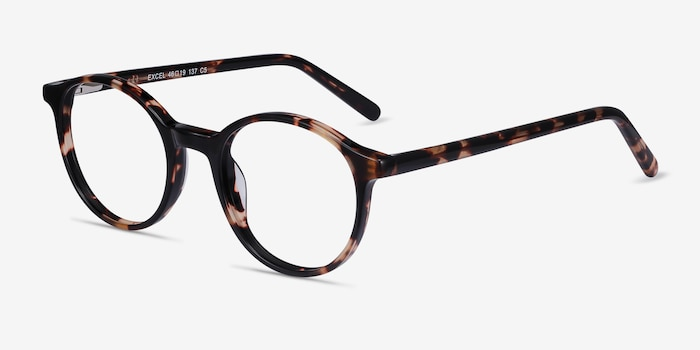 Excel Tortoise Acetate Eyeglass Frames from EyeBuyDirect, Angle View