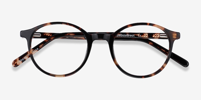 Excel Tortoise Acetate Eyeglass Frames from EyeBuyDirect, Closed View