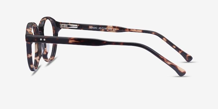 Magic Tortoise Acetate Eyeglass Frames from EyeBuyDirect, Side View