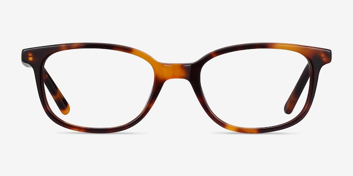 Leap Tortoise Acetate Eyeglass Frames from EyeBuyDirect, Front View