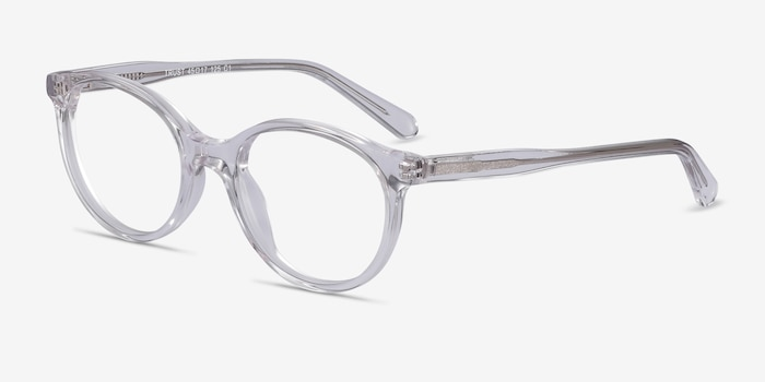 Trust Clear Acetate Eyeglass Frames from EyeBuyDirect, Angle View
