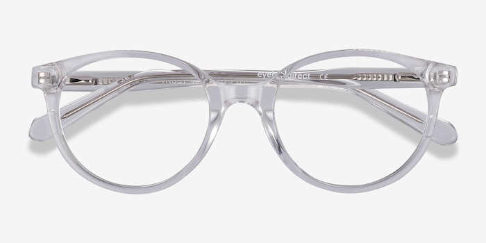 Trust Clear Acetate Eyeglass Frames from EyeBuyDirect, Closed View