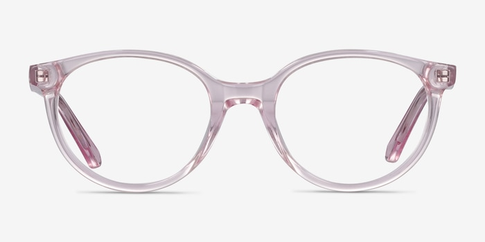 Trust Clear Pink Acetate Eyeglass Frames from EyeBuyDirect, Front View