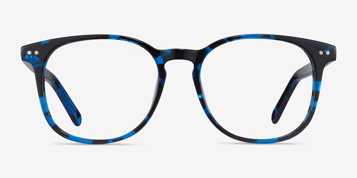 Ander Blue Tortoise Acetate Eyeglass Frames from EyeBuyDirect, Front View