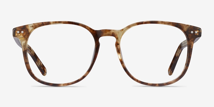 Ander Tortoise Acetate Eyeglass Frames from EyeBuyDirect, Front View