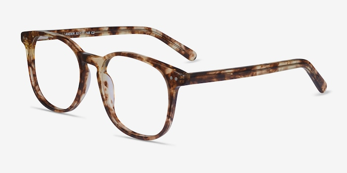 Ander Tortoise Acetate Eyeglass Frames from EyeBuyDirect, Angle View