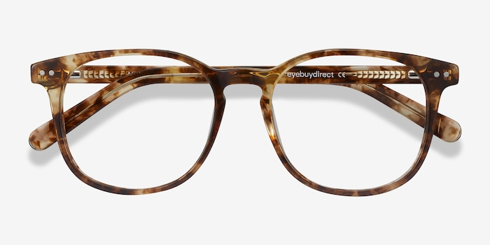 Ander Tortoise Acetate Eyeglass Frames from EyeBuyDirect, Closed View