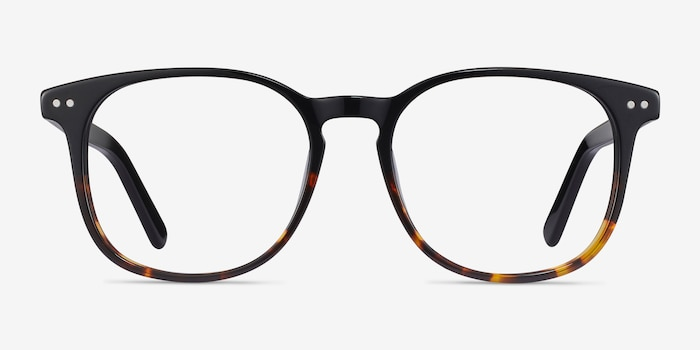 Ander Black Tortoise Acetate Eyeglass Frames from EyeBuyDirect, Front View