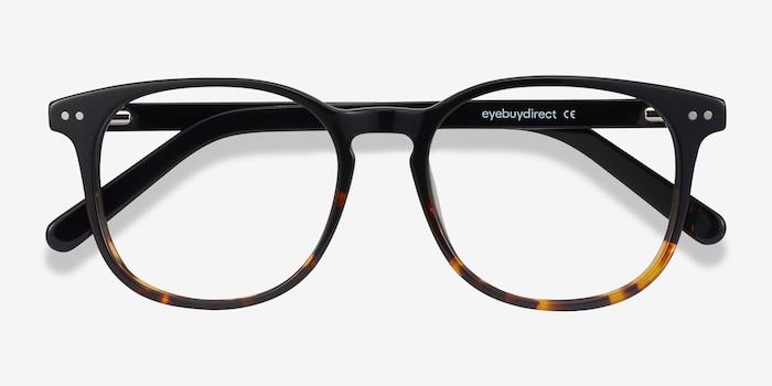 Ander Black Tortoise Acetate Eyeglass Frames from EyeBuyDirect, Closed View