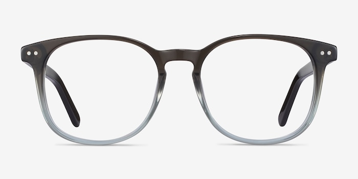 Ander Gray Clear Acetate Eyeglass Frames from EyeBuyDirect, Front View