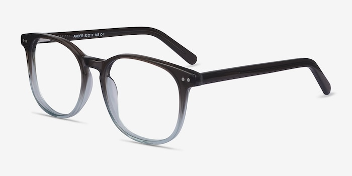 Ander Gray Clear Acetate Eyeglass Frames from EyeBuyDirect, Angle View