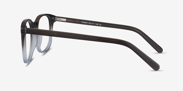 Ander Gray Clear Acetate Eyeglass Frames from EyeBuyDirect, Side View