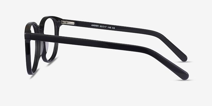 Ander Black Acetate Eyeglass Frames from EyeBuyDirect, Side View