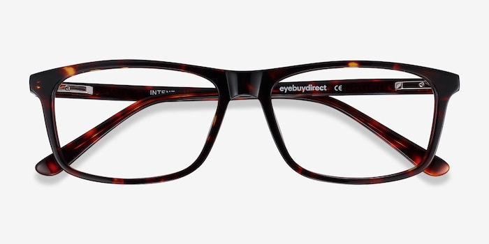 Intent Tortoise Acetate Eyeglass Frames from EyeBuyDirect, Closed View