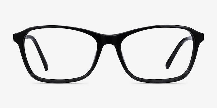 Versa Black Acetate Eyeglass Frames from EyeBuyDirect, Front View