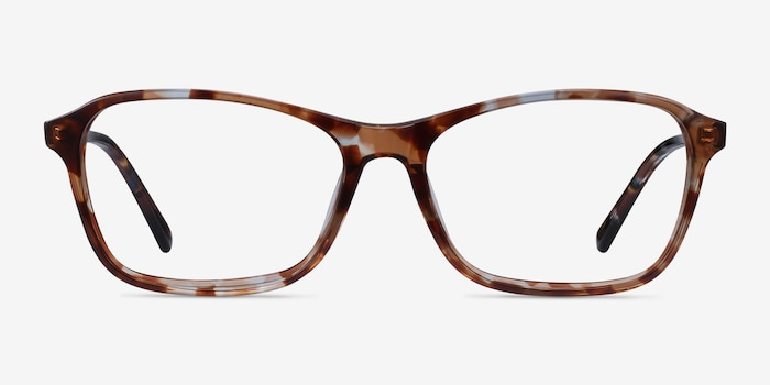 Versa Brown Floral Acetate Eyeglass Frames from EyeBuyDirect, Front View