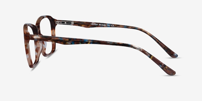 Versa Brown Floral Acetate Eyeglass Frames from EyeBuyDirect, Side View