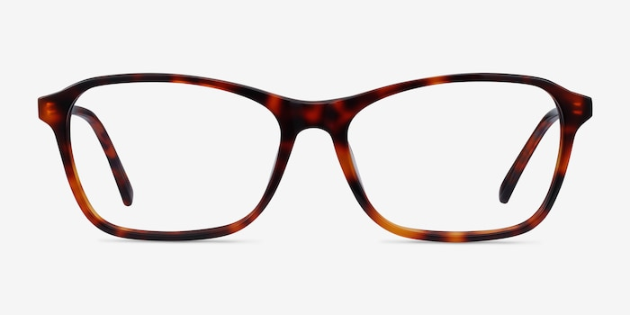 Versa Tortoise Acetate Eyeglass Frames from EyeBuyDirect, Front View