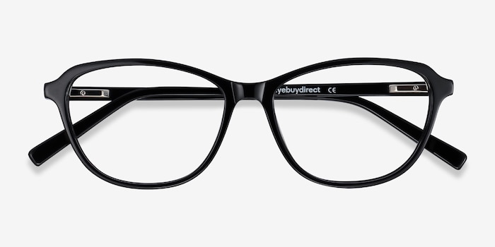 Ciencia Black Acetate Eyeglass Frames from EyeBuyDirect, Closed View