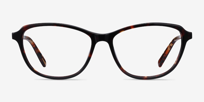 Ciencia Tortoise Acetate Eyeglass Frames from EyeBuyDirect, Front View