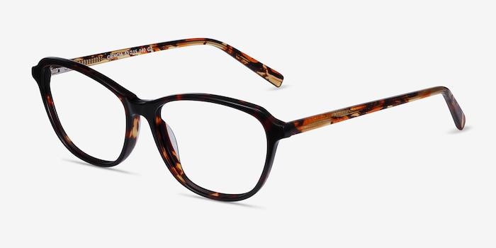 Ciencia Tortoise Acetate Eyeglass Frames from EyeBuyDirect, Angle View