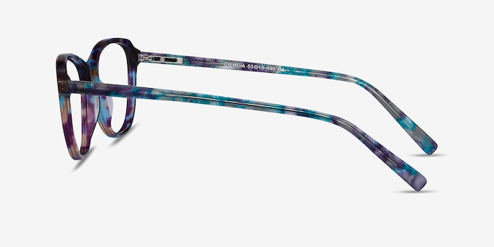 Ciencia Blue Floral Acetate Eyeglass Frames from EyeBuyDirect, Side View