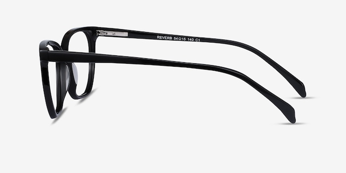 Reverb Black Acetate Eyeglass Frames from EyeBuyDirect, Side View