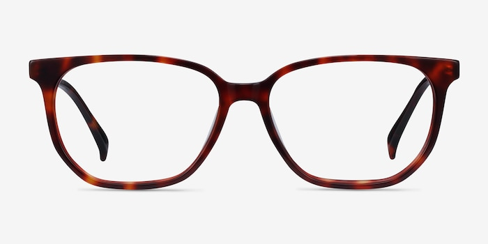 Reverb Tortoise Acetate Eyeglass Frames from EyeBuyDirect, Front View