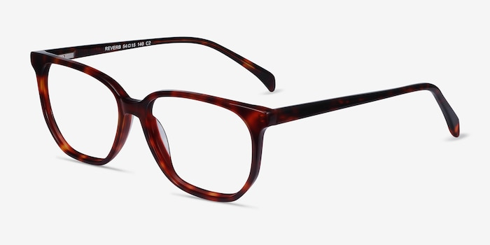 Reverb Tortoise Acetate Eyeglass Frames from EyeBuyDirect, Angle View
