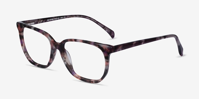 Reverb Floral Acetate Eyeglass Frames from EyeBuyDirect, Angle View