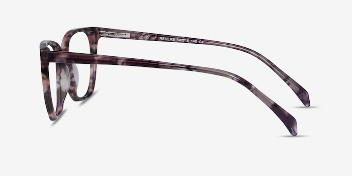 Reverb Floral Acetate Eyeglass Frames from EyeBuyDirect, Side View