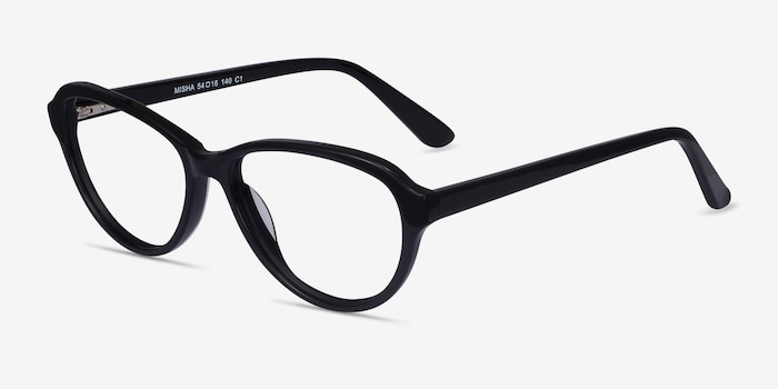 Misha Black Acetate Eyeglass Frames from EyeBuyDirect, Angle View