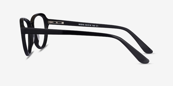 Misha Black Acetate Eyeglass Frames from EyeBuyDirect, Side View
