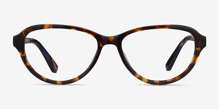 Misha Tortoise Acetate Eyeglass Frames from EyeBuyDirect, Front View
