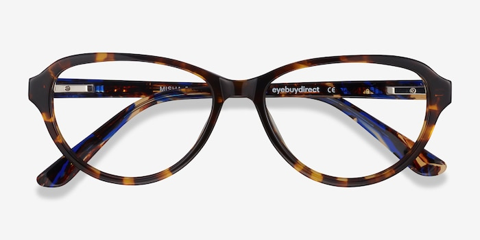 Misha Tortoise Acetate Eyeglass Frames from EyeBuyDirect, Closed View