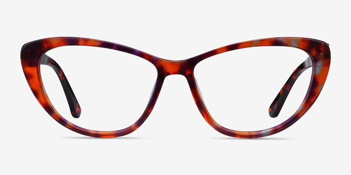 Yvonne Brown Floral Acetate Eyeglass Frames from EyeBuyDirect, Front View