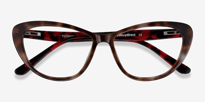 Yvonne Floral Acetate Eyeglass Frames from EyeBuyDirect, Closed View