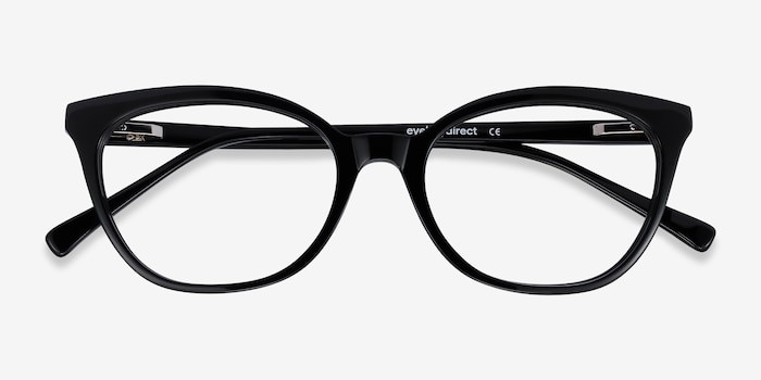 Sigilo Black Acetate Eyeglass Frames from EyeBuyDirect, Closed View