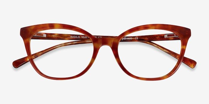 Sigilo Tortoise Acetate Eyeglass Frames from EyeBuyDirect, Closed View