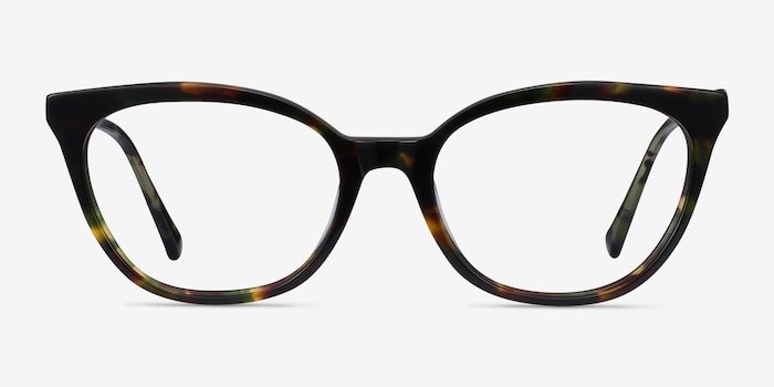 Sigilo Green Floral Acetate Eyeglass Frames from EyeBuyDirect, Front View